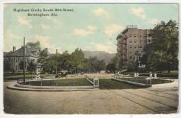 Highland Circle, South 20th Street, Birmingham, Ala. - 1912 - Etats-Unis