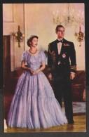 UK Queen Elizabeth II And  Prince Philip Formal Dress ,Unused 1950s - Please See Scans - Familles Royales