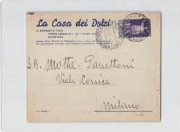 13539 MANTOVA LA CASA DEI DOLCI DI TOSI X MILANO - Marcofilie