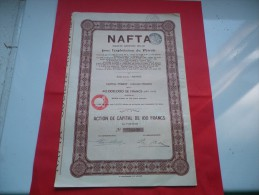 NAFTA Exploitation Du Petrole (capital 40 Millions) 1927 - Unclassified