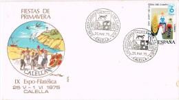 13402. Carta Exposicion CALELLA (Barcelona) 1975, Sardana, Fiestas De Primavera - 1931-Hoy: 2ª República - ... Juan Carlos I