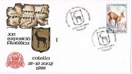 13404. Carta Exposicion CALELLA (Barcelona) 1988, Carta De Poblacion 650 Aniversario - 1931-Hoy: 2ª República - ... Juan Carlos I