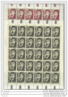 1968 Vaticano Vatican AEREA ARCANGELO 30 Serie Di 2v. In Foglio MNH** Air Mail Sheet - Posta Aerea