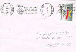 13407. Carta CALELLA (Barcelona) 1989, Rodillo Publicitario Fira Alt Maresma - 1931-Hoy: 2ª República - ... Juan Carlos I