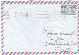 COLON C.60, SU BUSTA VIAGGIATA 1995  PER ITALIA, S.LAZZZARO DI SAVENA,BOLOGNA, - 1931-Aujourd'hui: II. République - ....Juan Carlos I
