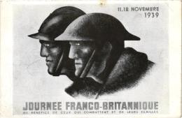 11,12 NOVEMBRE 1939 JOURNEE FRANCO BRITANNIQUE AU BENEFICE DE CEUX QUI COMBATTENT ET LEURS FAMILLES  REF 44021 - War 1939-45