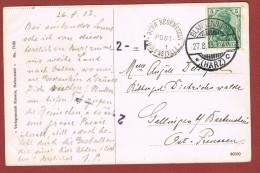 Ansichtkarte Stempel Burg Regenstein Posthülfsstelle & Abgangsstempel Blankenburg Harz 27/8/1913 - Briefe U. Dokumente