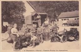 VESOUL 11EME CHASSEURS A CHEVAL CAMION ATELIER DE REPARATION MOTOS - Vesoul