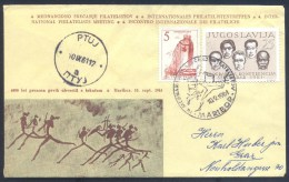 Yugoslavia 1961 Cover: 4000 Years Of First Message Sanding With A Runner Cachet And Cancellation - Correo Postal