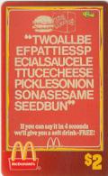"USA - McDonald""s(50/50), Sprint Promotion Prepaid Card, Tirage 6100, 05/96, Mint"