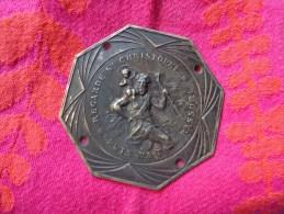 Plaque En Relief -argent -st Christophe-graveur Ruffoni. - Religion & Esotericism