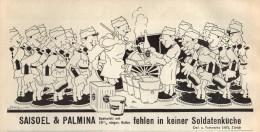 Original Werbung - 1939 - Saisoel & Palmina In Soldatenküche , SAIS In Zürich  !!! - 1939-45