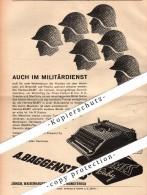 Original Werbung - 1939 - A. Baggenstos , Schreibmaschinen Für Militär , Soldaten , Zürich , A4 Seite !!! - 1939-45