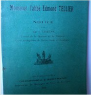 """"""" Monsieur L' Abbé Edmond TELLIER """", Par Mgr LEJEUNE Curé Archiprêtre De Notre Dame De Boulogne - Picardie - Nord-Pas-de-Calais"""