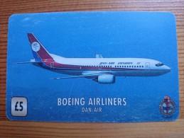 UK-AIRLINE-BOEING AIRLINES : DAN AIR-UNI-116_used - Royaume-Uni