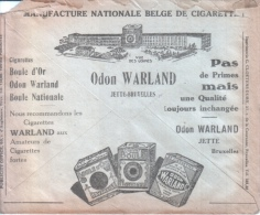 Cigarettes - Odon WARLAND - Boule D'Or - Tabac