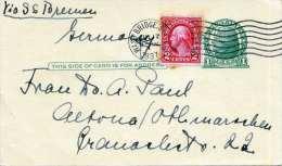 USA 1937 - 1 C Ganzsache + 2 C Zusatzfr.auf Pk Von New York N. Altona ? - Vereinigte Staaten