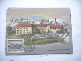 Liechtenstein Mit Schöne Briefmarke 1985 Frauenkloster Schellenberg - Liechtenstein