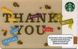 Starbucks Thank You - Gift Cards