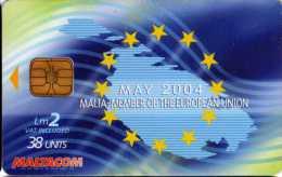 Malte Maltacom : May 2004 Malta - Member Of The European Union - Phonecards