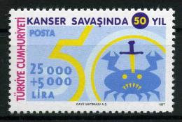 TURKEY 1997 (**) - Mi. 3103, Fight Against Cancer - Unused Stamps