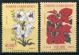 TURKEY 1997 (**) - Mi. 3124-25, Flowers - 1921-... République