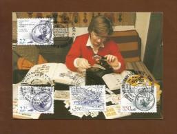Vereinigte Nationen 1986 , Briefmarkensammeln - Ein Internationales Hobby  - Maximum Card - First Day  22.5.1986 - Gemeinschaftsausgaben New York/Genf/Wien