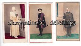 Rare Photos Anciennes  Cabinet Albumine Rome Fédéricis  - Officiers   Pontificaux     épées  Recto Verso - Oud (voor 1900)
