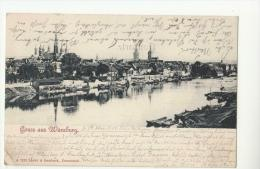 DE605-1900 AK WUeRZBURG Gruss Aus-Panorama-S/W-Gel. - Wuerzburg