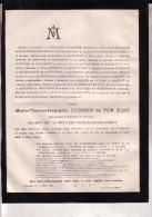 OPLINTER LOUVAIN Marie-Thérèse LUNDEN De TER ELST Veuve Philippe De WOUTERS D´Oplinter-Bouchout 1794-1881 Doodsbrief - Décès