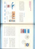 ESPAMER 81 CATALOGO 4 RARA PIEZA  CON TARJETA PERSONAL DEL ADMINISTRADOR DEL CORREO CORONEL SILVIO CARLOS YORIO - Exposiciones Filatélicas