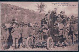 Lybie,  Armée Italienne, Deputi E Giornalisti Sulla Strada Di Ain-Zara, Fiat SPA  Camion Militaire Léger (1) - Libia