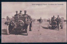 Lybie,  Armée Italienne Sulla Spiaggia Di Tripoli, Fiat SPA  Camion Militaire Léger (7) - Libia