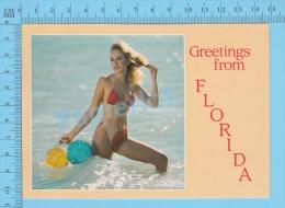 Pin-ups , Florida ( Girls Women Greeting From Florida ) Carte Postale Postcard ,2 Scans - Pin-Ups