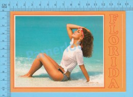 Pin-ups , Florida ( Girls Women Wet Teeshirt ) Carte Postale Postcard ,2 Scans - Pin-Ups
