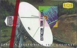 """Costa Rica """"CHIP"""" Satellite Dish(ll emisi�n)Estaci�n Terrena Tarbaca in Blister Cat: CRI-C-02a 1997"""