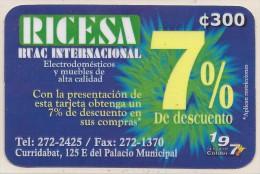 COSTA RICA RICESA CURRIDABAT 2001 NEW