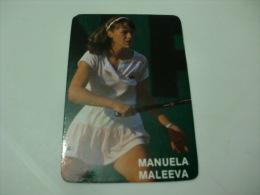 Tennis Tenis Manuela Maleeva Portugal Portuguese Pocket Calendar 1987 - Calendriers