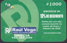 COSTA RICA DEPARTMENT STORE RA�L VEGA 2001 NEW