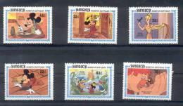 MONGOLIA SERIE 6 VALORES DISNEY MICKEY TBE MNH - Disney