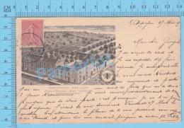 CPA Montlhery ( Institution Graillot Ecole Commerciale, , 1905, Dos Indivisé,  ) 2 Scans - Montlhery