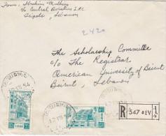 "Lebanon-Liban Interior Registr.Mail 1954. Clear Round Cancedllat"" TRIPOLI MARINE"" Fine Condit.-SKRILL PAY ONLY - Lebanon"