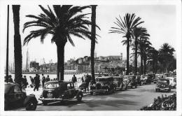 Cannes - Promenade De La Croisette - Palmiers Et Vieilles Autos - Carte CAP