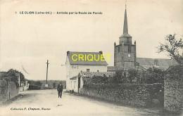Cpa 44 Le Clion, Arrivée Par La Route De Pornic, Affranchie 1916 - France