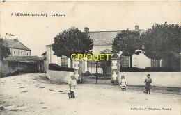 Cpa 44 Le Clion, La Mairie, Enfants Avec Des Jouets, Charrette, Poussette... - France