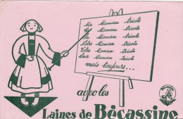 V5 Buvard Les Laines De BECASSINE - Textile & Vestimentaire