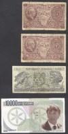 6901-LOTTO DI N°. 3 BANCONOTE DELLA REPUBBLICA(5 LIRE-500 LIRE) + BANCONOTA DELLA PADANIA(10.000 LIRE) - [ 2] 1946-… : Républic