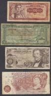 6902-LOTTO DI N°. 4 BANCONOTE-JUGOSLAVIA-ETIOPIA-AUSTRIA-GRAN BRETAGNA - Monnaies & Billets