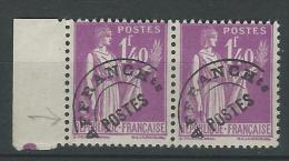 Préoblitré 77 - Type Paix 1f40 Lilas  - Paire Bord De Feuille - 1893-1947