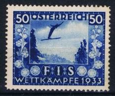 Osterreich - 1933. - Mi. Nr. 554  Hinged MH/*. FIS - Wettkampfe In Innsbruck, Signed/ Signé/signiert/ Approvato - Ungebraucht